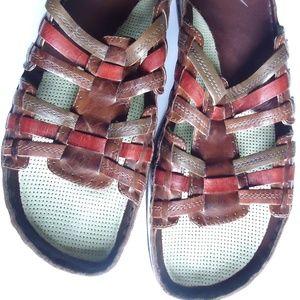 SIZE 11.Earth Women Birch straps Leather  Sandal .